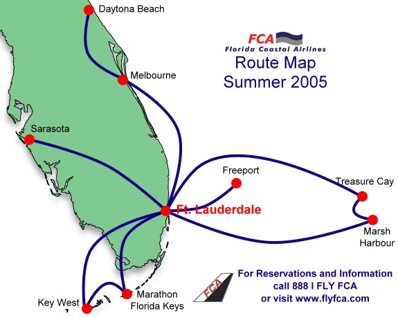 FCA route map from Summer 2005.