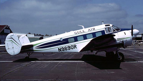 Gull Air also operated this classic Beech 18 N969OR.