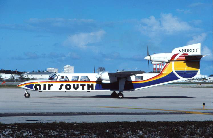 Air South Britten Norman Tri-Islander N906GD pictured at Fort Lauderdale.