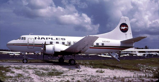 Martin 404 N40407 at Naples in 1979 wearing the updated colors that would become the standard PBA paint scheme.