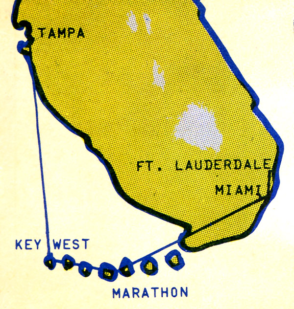 Air Sunshine route map from 1974.