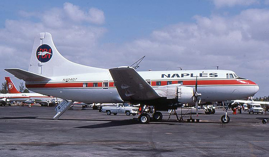 Martin 404 N40407 in the late 1970s.