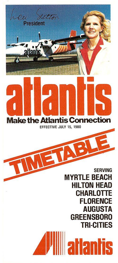Atlantis airlines timetable July 15, 1980.