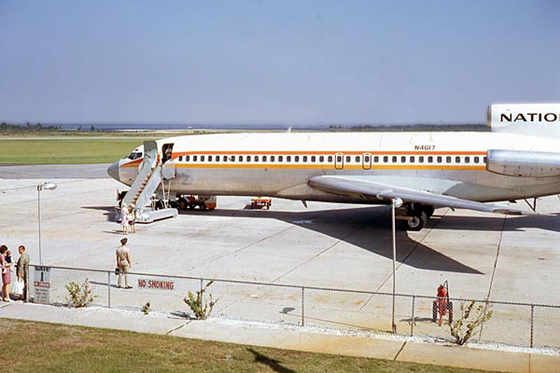 National Airlines Boeing 727 at Panama City Bay County Airport Fannin Field.