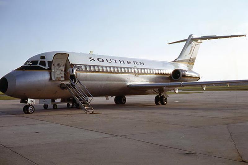 Southern Airways Douglas DC-9-15 N94S (msn 47204 / sn 245) pictured at Panama City in 1970.
