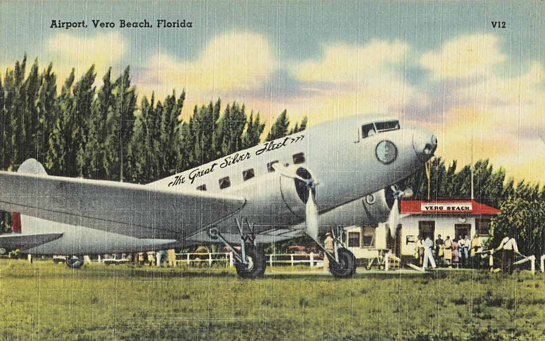 Eastern Airlines DC-2 at Vero Beach, Florida.
