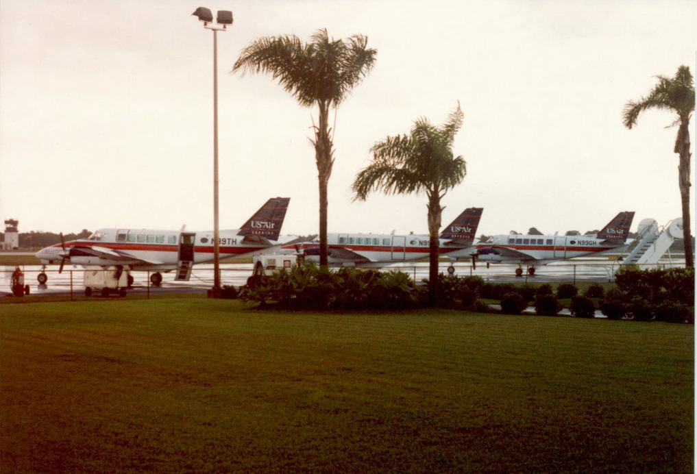 Another view of Chautauqua's Beech 99s at Vero Beach. Photo courtesy of Todd Scher.