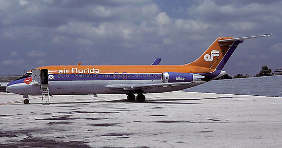 Douglas DC-9s were Air Florida's primary aircraft type during 1977-78.