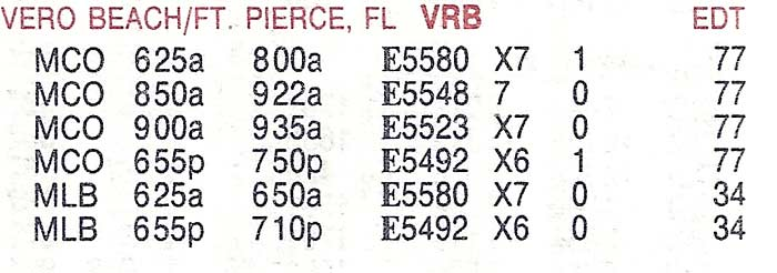 USAir Express service from July 1993.