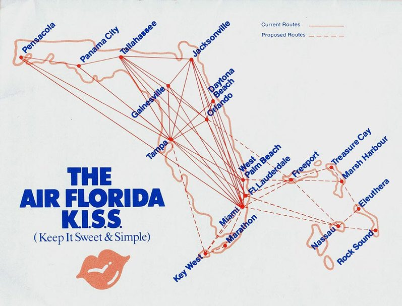 Air Florida route map