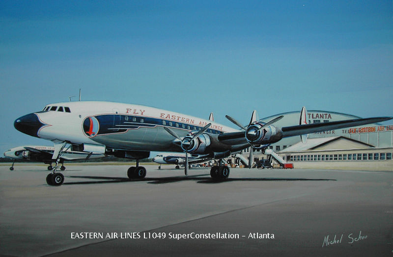 Eastern Constellation at Atlanta. Painting by Michel Schou.