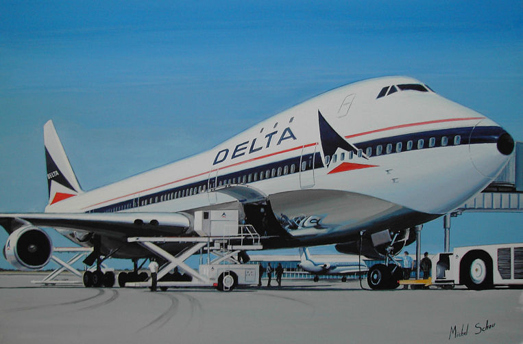 Delta Air Lines Boeing 747-132 Ship 101 N9896, christened