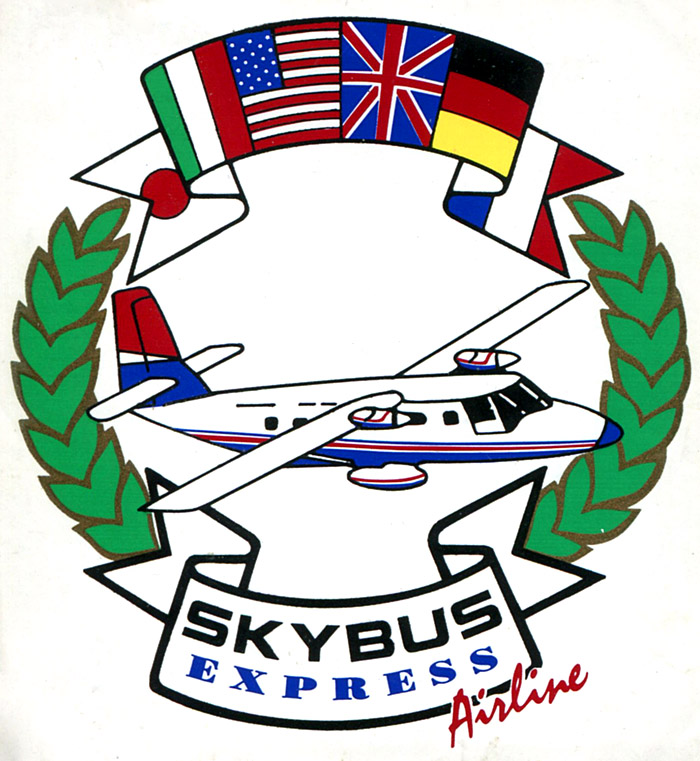 Skybus Express sticker.