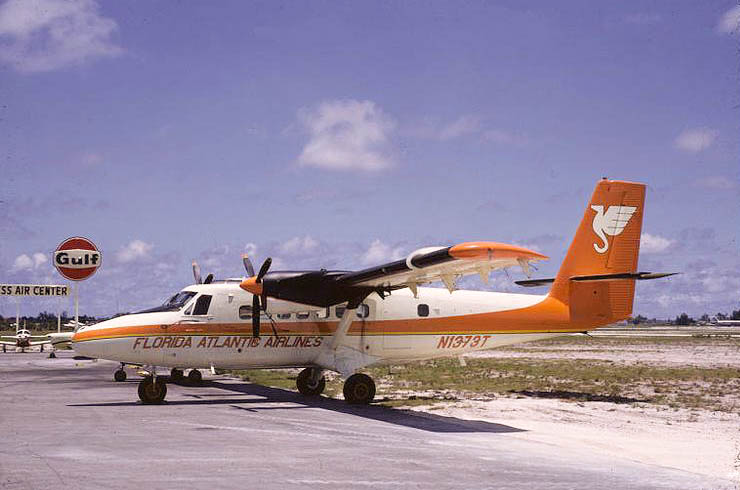 Florida Atlantic Airlines Twin Otter N1373T at Ft. Lauderdale, June 1969.