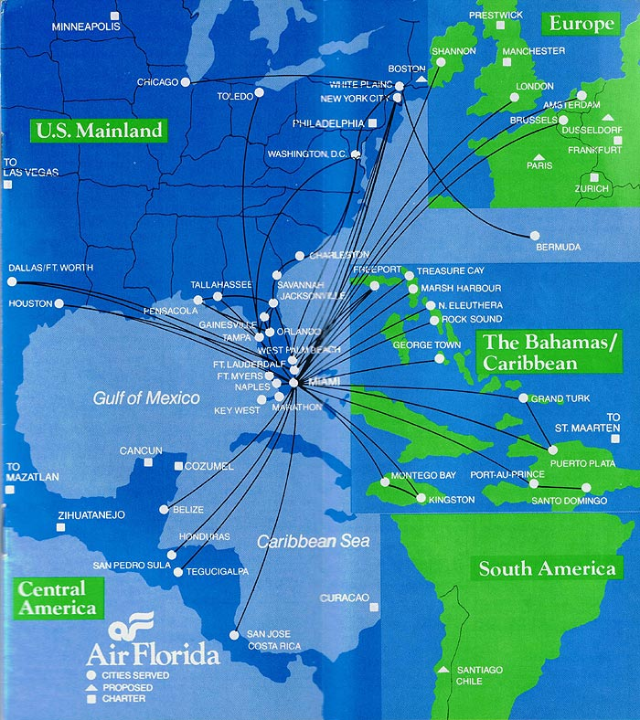 Southwest Florida Map With Cities.Air Florida Maps And Postcards Sunshine Skies