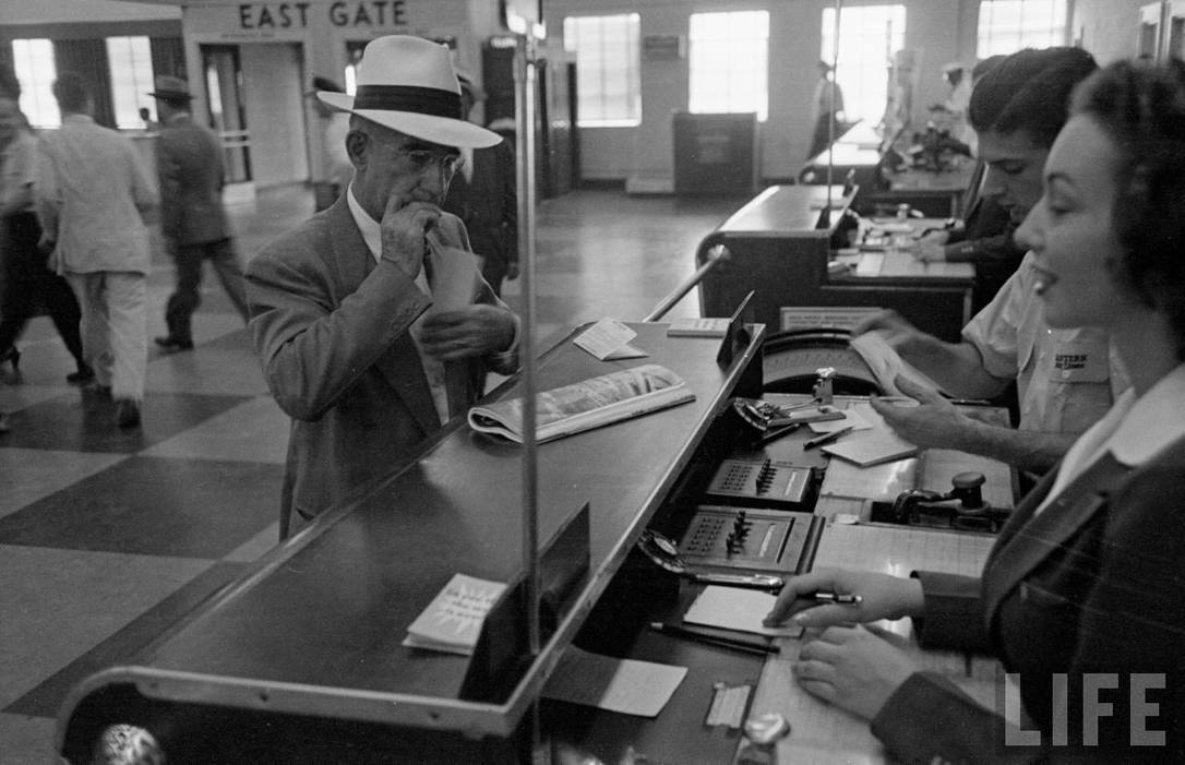 Eastern ticket counter at Atlanta Municipal Airport in 1949.