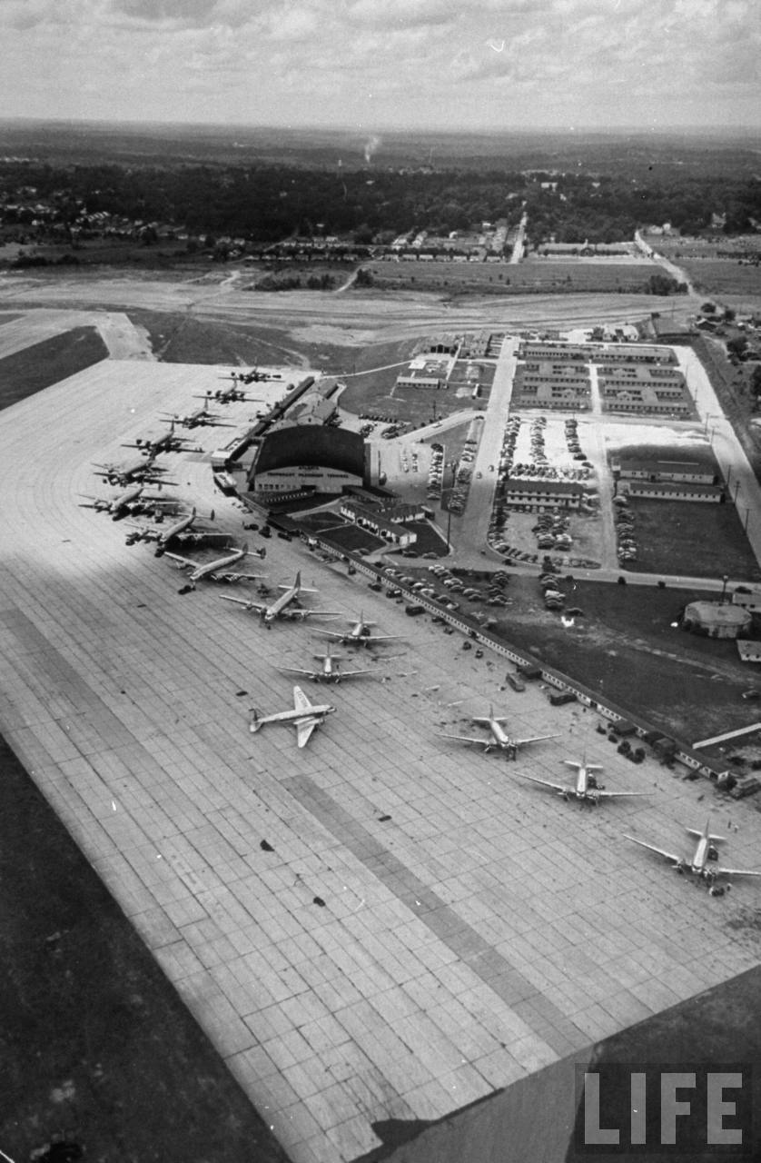 View of Atlanta Municipal Airport facing west in 1949.