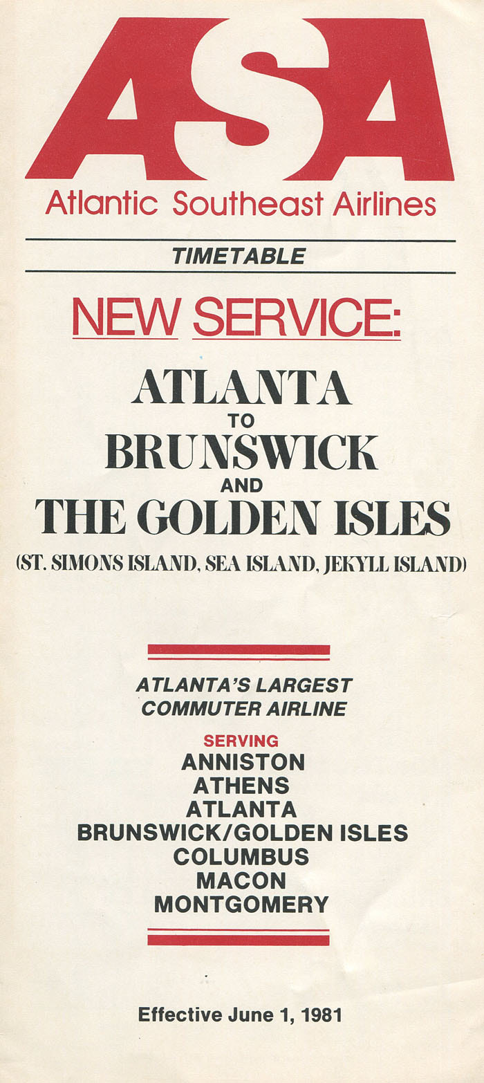 Atlantic Southeast Airlines timetable