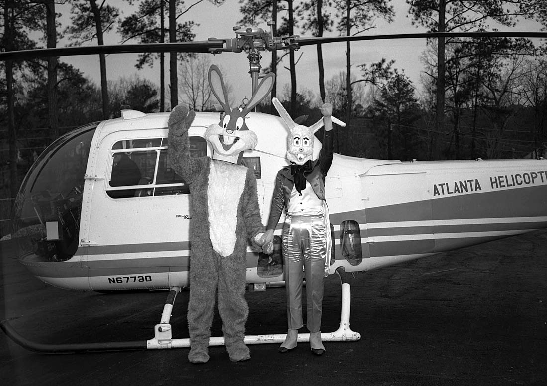 Bugs Bunny departs on Atlanta Helicopter Airways.