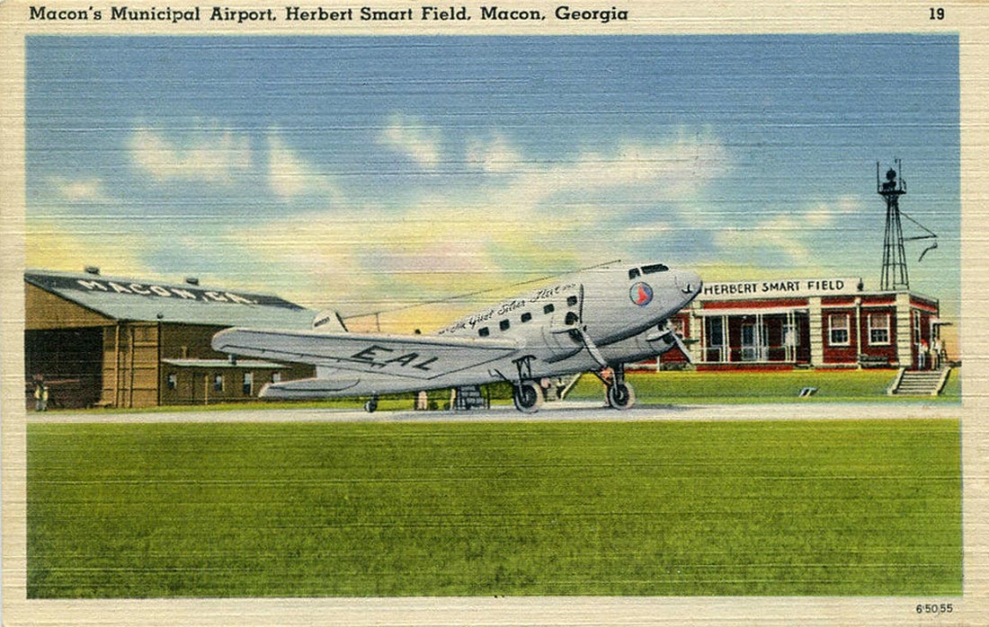 Eastern Air Lines DC-2 at Macon.