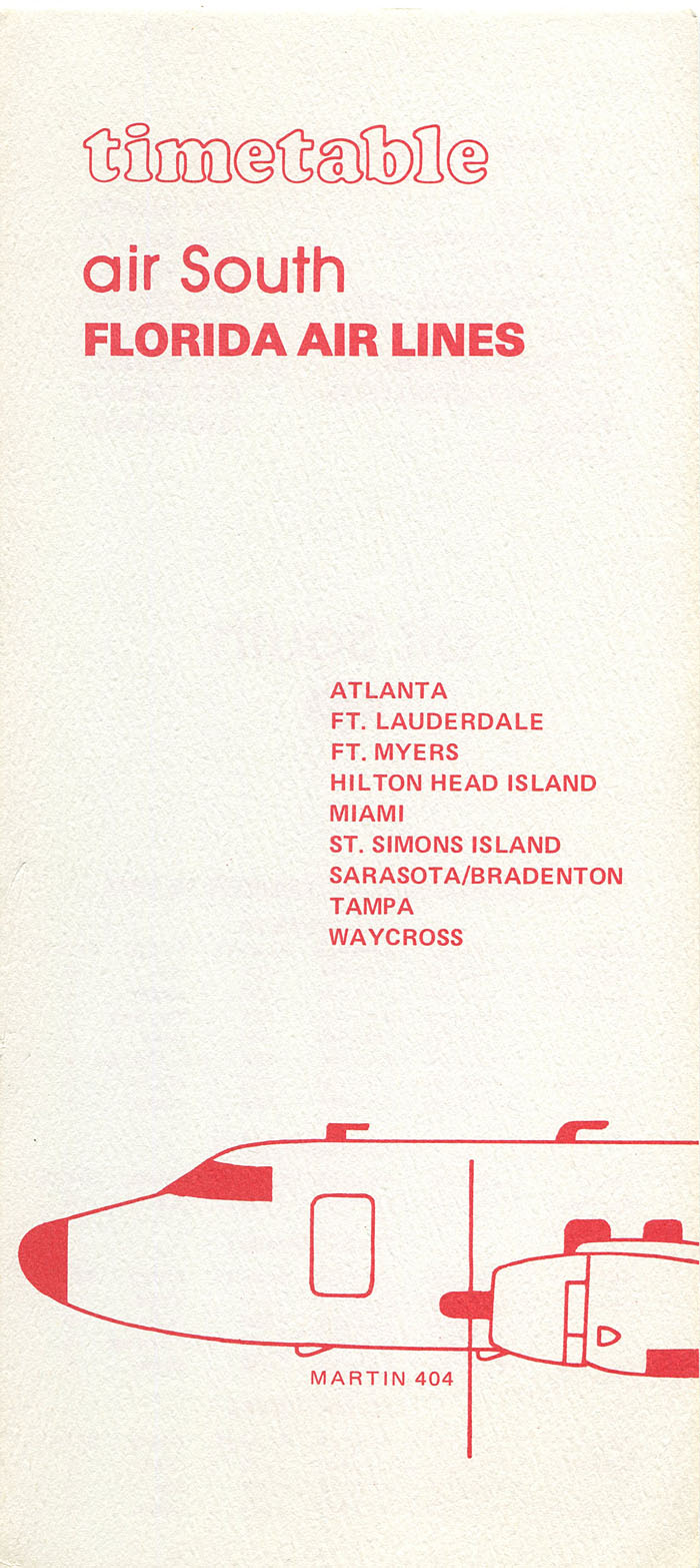 Air South / Florida Air Lines timetable