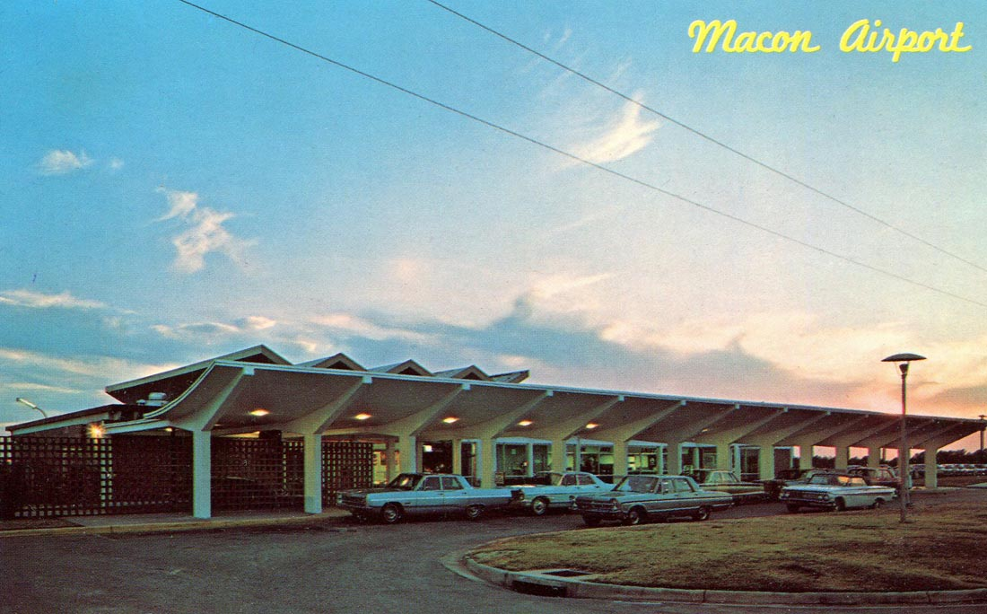 Macon Airport postcard