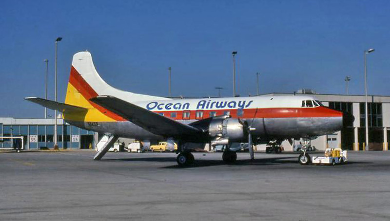Ocean Airways Martin 404 N145S at Atlanta, GA 1980.