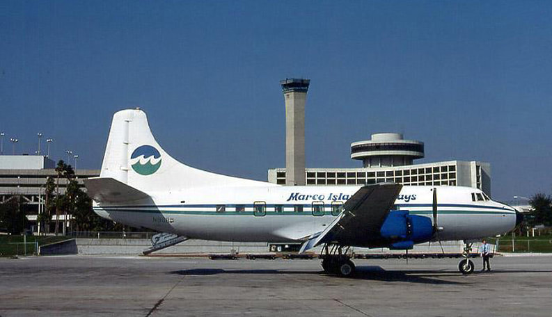 Marco Island Airways Martin 404 at Tampa in 1981.