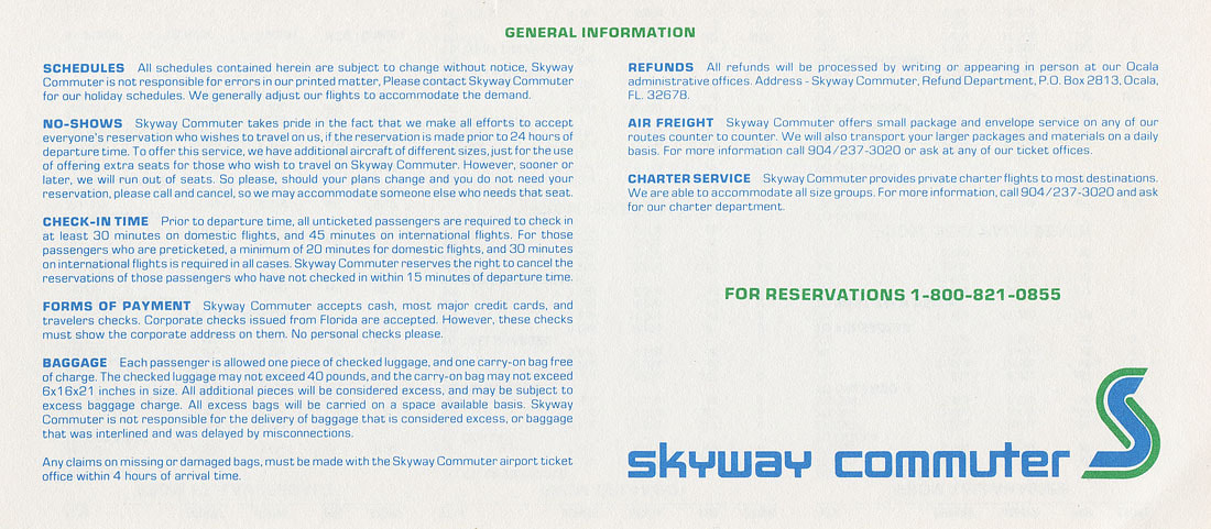 Skyway Commuter timetable